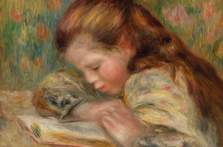 Child Reading by Pierre-Auguste Renoir